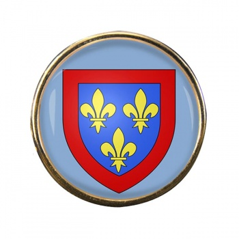 Anjou (France) Round Pin Badge