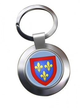 Anjou (France) Metal Key Ring