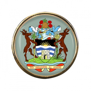 Antigua-and-Barbuda Round Pin Badge