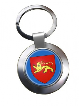 Aquitaine (France) Metal Key Ring