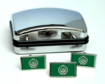 Arab League Flag Cufflink and Tie Pin Set