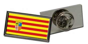 Aragon (Spain) Flag Pin Badge