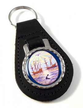 Argentine Buenos Aires City Leather Key Fob