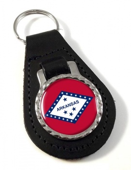 Arkansas  Leather Key Fob