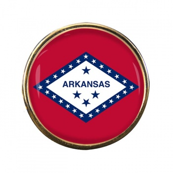 Arkansas Round Pin Badge