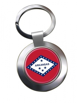 Arkansas  Metal Key Ring