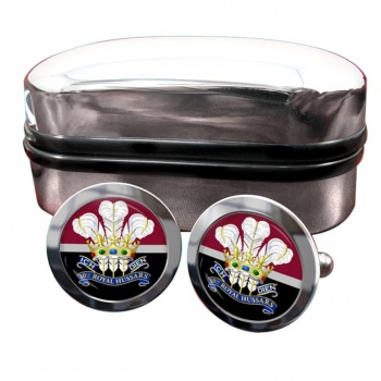 10th Royal Hussars (Prince of Wales's Own) Round Cufflinks
