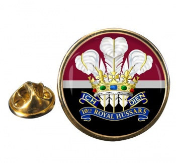 10th Royal Hussars (Prince of Wales's Own) Round Pin Badge