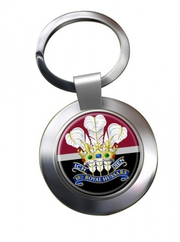 10th Royal Hussars (Prince of Wales's Own) Chrome Key Ring