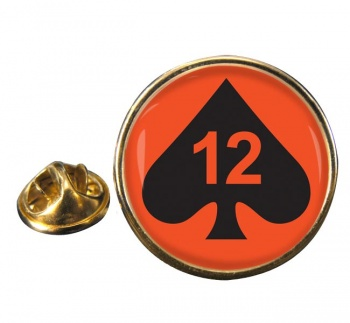12th Armoured Infantry Brigade (12 Armd Inf Bde) Round Pin Badge