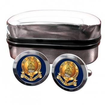14th King's Hussars Round Cufflinks