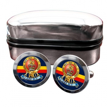 15th-19th The King's Royal Hussars Round Cufflinks