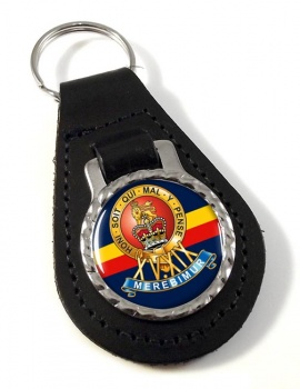 15th-19th The King's Royal Hussars Leather Key Fob