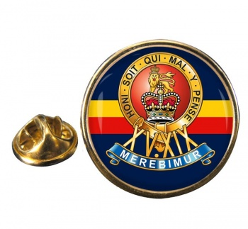 15th-19th The King's Royal Hussars Round Pin Badge