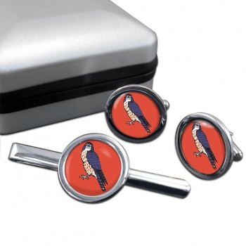 15 (North East) Brigade Round Cufflink and Tie Clip Set