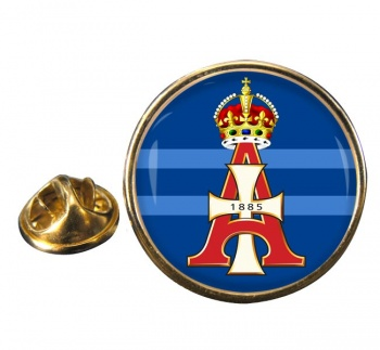 19th Royal Hussars (Queen Alexandra's Own) Round Pin Badge