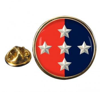1 Military Police Brigade Round Pin Badge