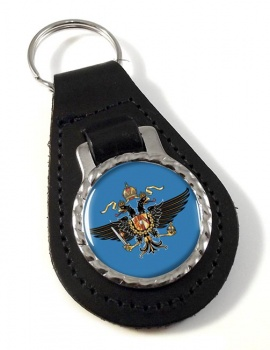 1st Queen's Dragoon Guards Leather Key Fob