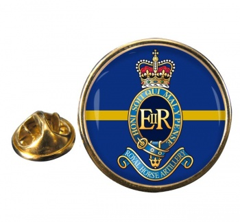 1st Regiment Royal Horse Artillery Round Pin Badge