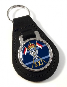 21st Lancers (Empress of India's) Leather Key Fob