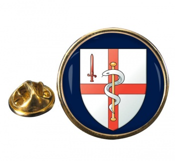 256 Field Hospital Round Pin Badge