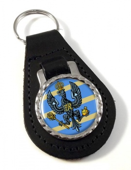 4th-20th King's Hussars Leather Key Fob