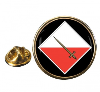 42 Infantry Brigade & HQ North West Round Pin Badge