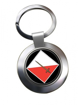 42 Infantry Brigade & HQ North West Chrome Key Ring