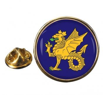 43 (Wessex) Brigade Round Pin Badge
