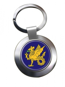 43 (Wessex) Brigade Chrome Key Ring