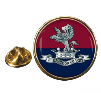 7th Dragoon Guards Round Pin Badge