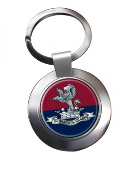 7th Dragoon Guards Chrome Key Ring