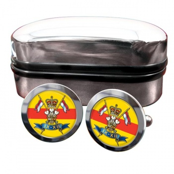 9th-12th Royal Lancers Round Cufflinks