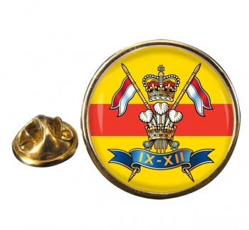 9th-12th Royal Lancers Round Pin Badge
