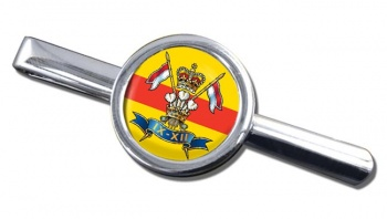 9th-12th Royal Lancers Round Tie Clip