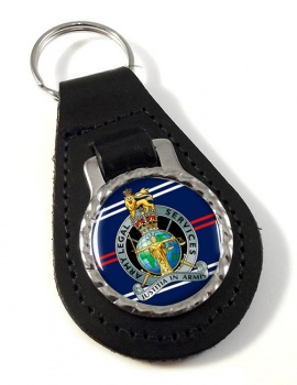 Army Legal Services Leather Key Fob