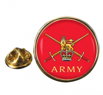 Army  Round Pin Badge
