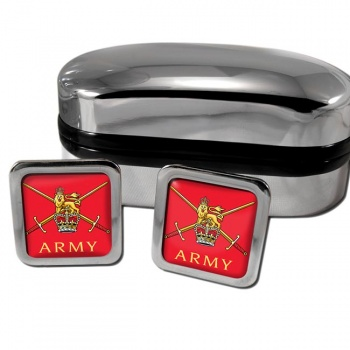 Army  Square Cufflinks