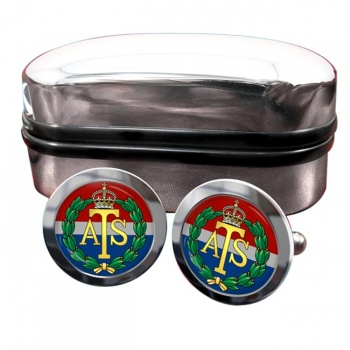Auxiliary Territorial Service Round Cufflinks