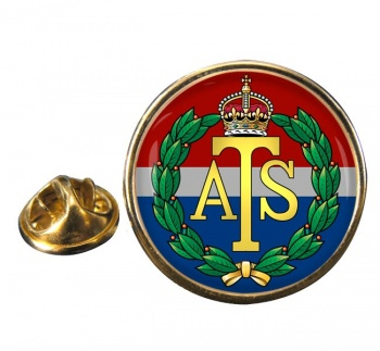 Auxiliary Territorial Service Round Pin Badge