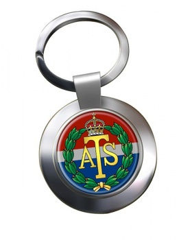 Auxiliary Territorial Service Chrome Key Ring