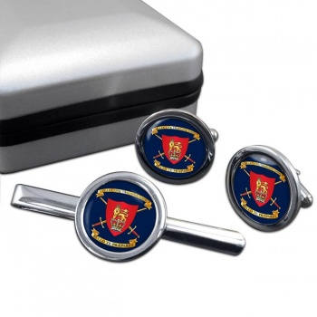 Collective Training Group Round Cufflink and Tie Clip Set