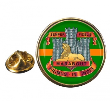 Devonshire and Dorset Light Infantry Round Pin Badge