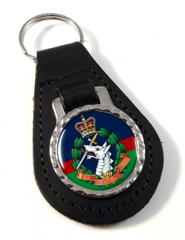 Royal Army Dental Corps Leather Key Fob
