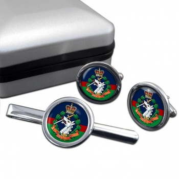 Royal Army Dental Corps Round Cufflink and Tie Clip Set