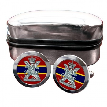 Fife and Forfar Yeomanry Scottish Horse Round Cufflinks
