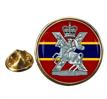 Fife and Forfar Yeomanry Scottish Horse Round Pin Badge