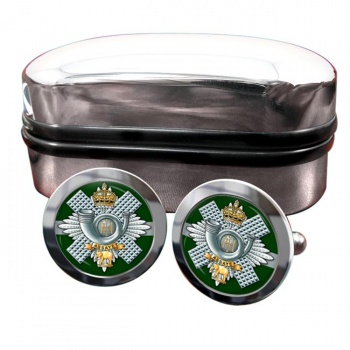 Highland Light Infantry Round Cufflinks