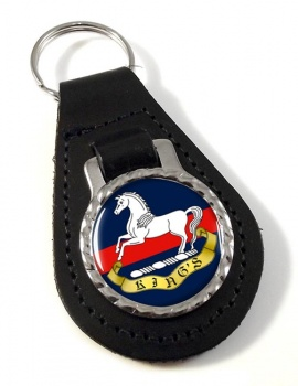 King's Regiment (Liverpool) Leather Key Fob