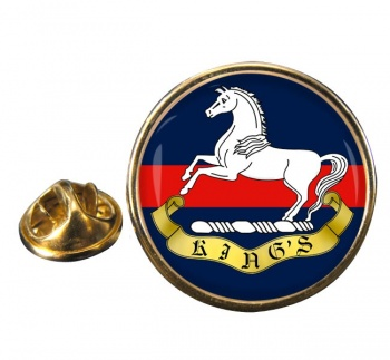King's Regiment (Liverpool) Round Pin Badge